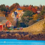 kayak trips on the water in Harpswell