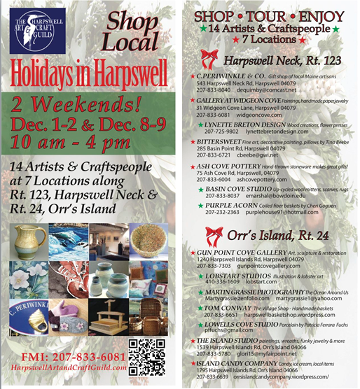 Holidays In Harpswell Rack Card
