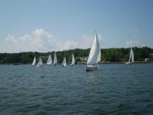 Sailing in Harpswell Maine